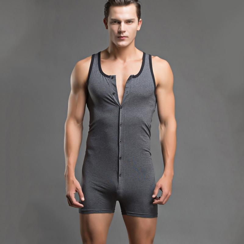 2016 New Men Sexy comfortable Bodysuits Lingerie Jumpsuit Cotton Singlet Underwear Hot Club Wear Homewear Leggings Moresell- upcube