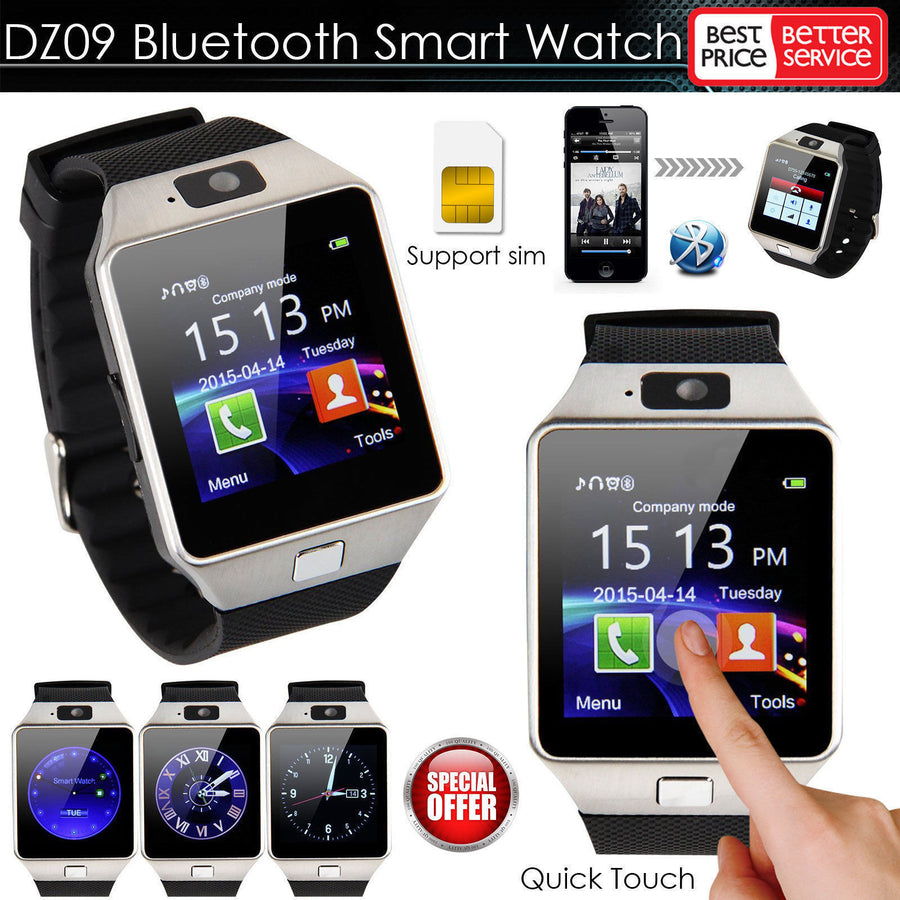2016 New Smart Watch dz09 With Camera Bluetooth WristWatch SIM Card Smartwatch For Ios Android Phones Support Multi languages Smart Watches Globalsellinc Store- upcube