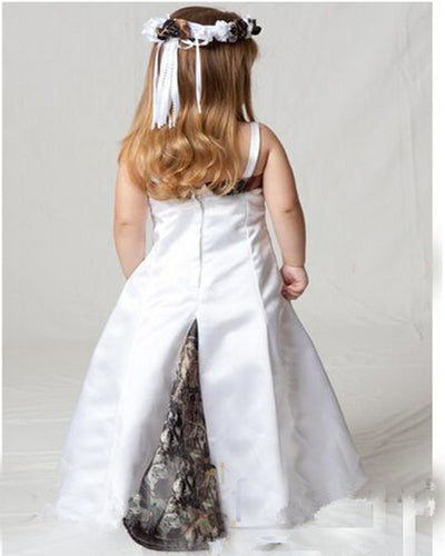 8546f8e5875 2016 New Styles Strap Cute Camo Flower Girl Dresses Pageant Ball Gowns Long  Camouflage. Flower
