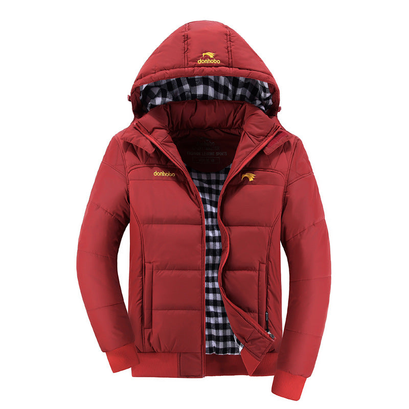 2016 New Stylish Hood Winter Jacket Coat Men Solid Color Warm Hooded Parka Men (Asian Size) Parka gggmm- upcube