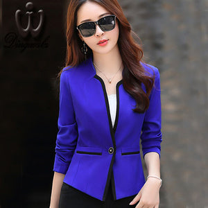 2016 Spring Autumn Professional ladies Blazers Short Design Women jacket Korean Slim female ourterwear