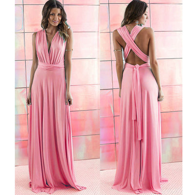 5da8e65576 2016 Summer Sexy Women Maxi Dress Red Beach Long Bandage Multiway  Convertible Dresses Infinity Wrap Robe