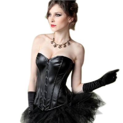 2016 Women Synthetic Leather Corselet Sexy Lingerie Gothic Costume Shapewear Bustiers and Corsets Plus Size 6XL Steampunk Corset Bustiers & Corsets TATMO Fashion glasses- upcube