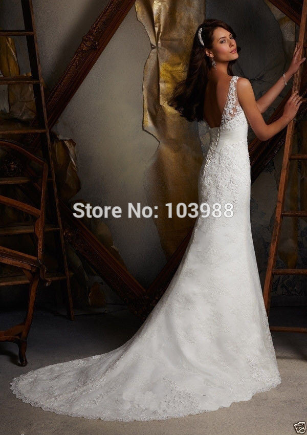 2016  elegant graceful  mermaid style wedding dress! graceful and queen of the day!white ivory hot wedding dress Evening Dresses Buy-Evalue- upcube