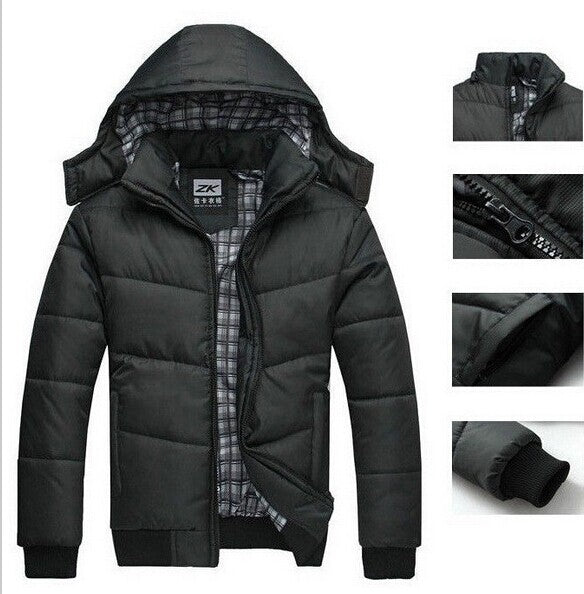 2016 new Brand winter warm Jacket for men hooded coats casual mens thick coat male slim casual cotton padded down outerwear Parka gggmm- upcube