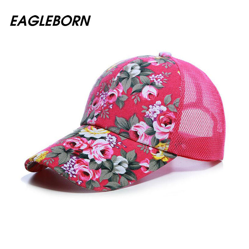 2017 EAGLEBORN New Fashion Floral Baseball Cap Women Hats Spring Cap Snapback Summer for Women Unisex adjustable gorras Baseball Caps EAGLEBORN- upcube