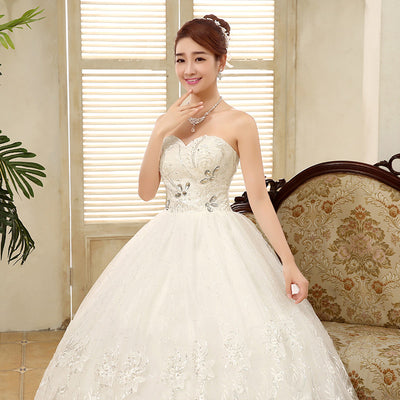 2017 New Arrive Strapless Wedding Dress Large Size Ball Gown Wedding G