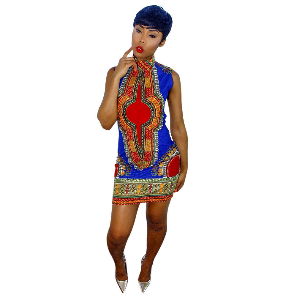 4fbfdbe6cb2 2017 New Summer plus size African Print Dashiki dress for women dresses  africa clothing traditional Ladies