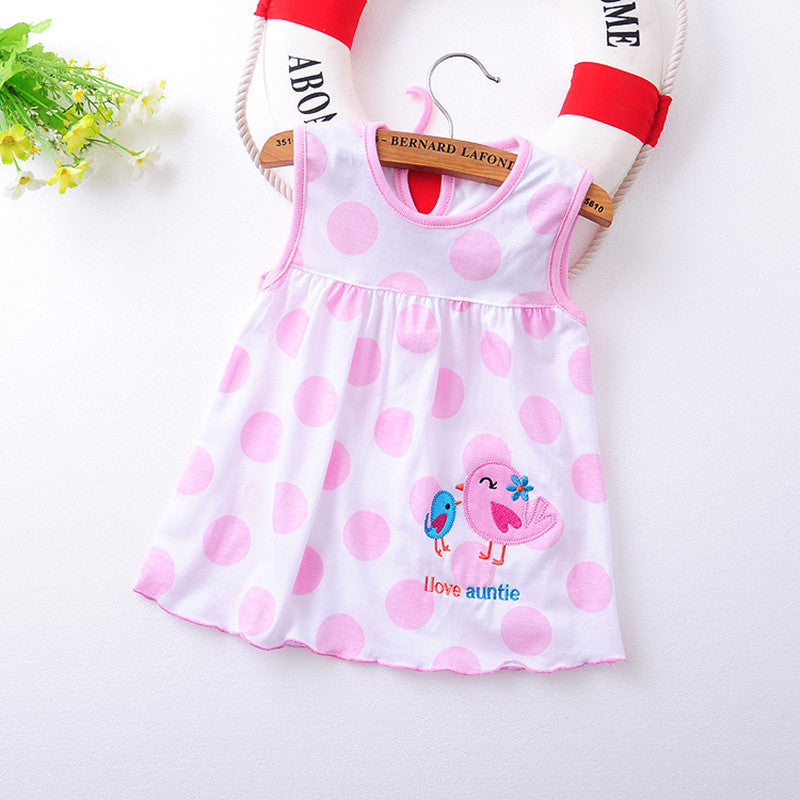2017 summer 1 year baby girl cotton dress infant kids princess dresses 0 12 months - 12 Month Christmas Dress