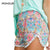2017 Summer Shorts Women Beach Casual Fashion Short Tassel Loose Print Hawaii Women Shorts Blue Pink Plus Size S-XL