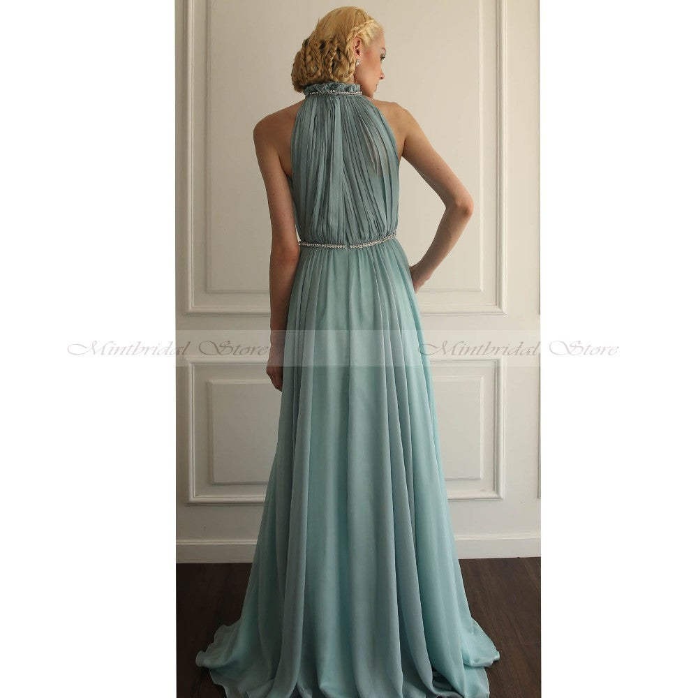 2017 Teal Blue Bridesmaid Dresses Chiffon Vestidos para damas de ...