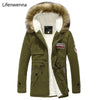 2017 Winter New Style Warm Men's Jacket Parka Thick Warm Fur Collar Long Cotton Jacket Men Comfortable Cotton Hooded Parka Men Mens Jackets & Coats li fen wen na Official Store- upcube