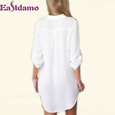 2017 Womens Chiffon Sexy V Neck T-Shirt Nightgowns Plus Size Long Sleeve Slik Sexy Nightie Sleepwear Dress Sexy Nightdress XL Nightgowns & Sleepshirts Eastdamo Official Store- upcube