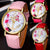 2017 best-selling simple casual Women's Wrist Watches Leather Floral Printed Anchor Quartz Dress Digital Relogio Feminino Saat