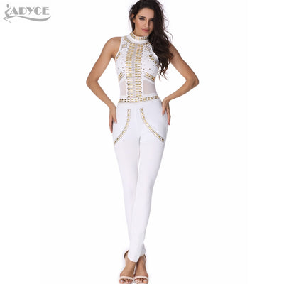 f3981254aa69 2017 new sexy women rompers bodysuit white luxury sequined mesh patchwork bodycon  hot lady runway catsuit