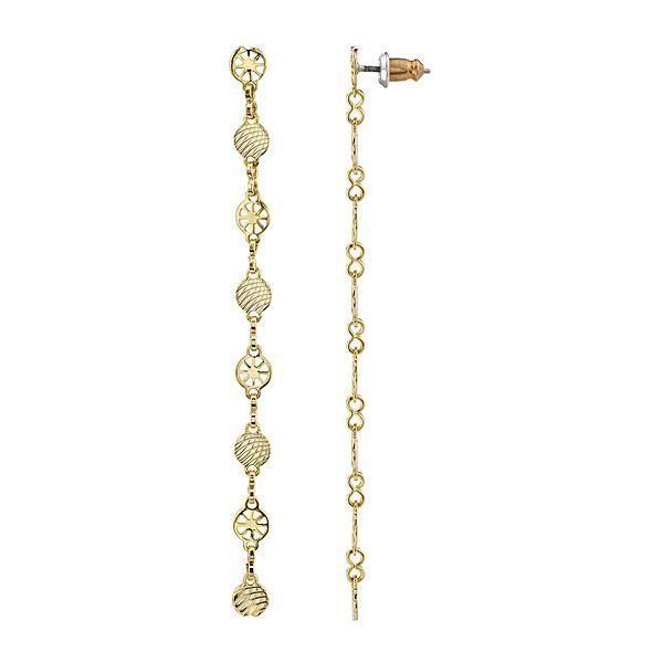 14k Gold Dipped Linear Chain Earring - upcube