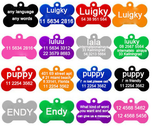 2pcs/lot Free Personalized engraving text dog tag engraved dog cat tag dog identification customized name address telephone