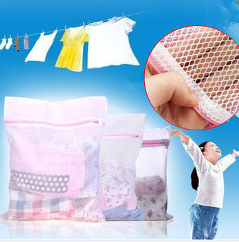 3 Size Zippered Mesh Laundry Wash Bags Foldable Delicates Lingerie Bra Socks Underwear Washing Machine Clothes Protection Net Laundry Storage Tension Global Trade Co., Ltd.- upcube
