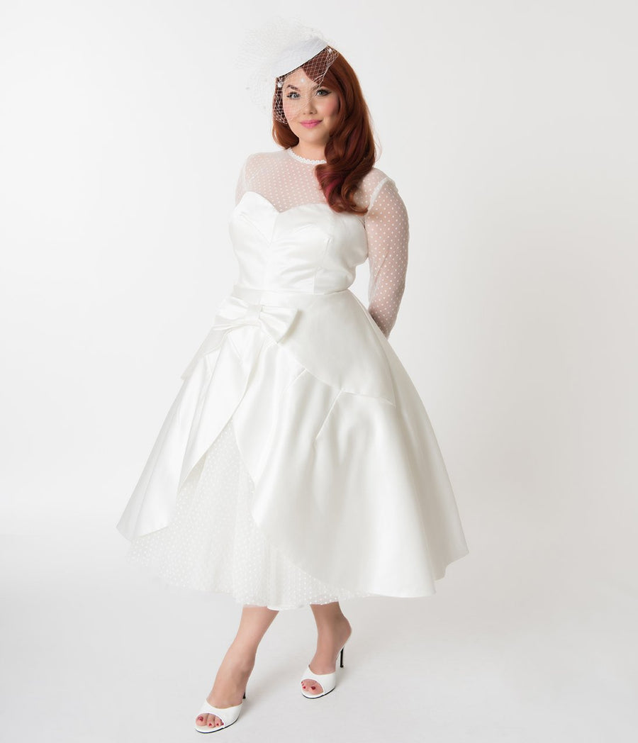 Barbie x Unique Vintage Plus Size Ivory Beautiful Bride Wedding Dress