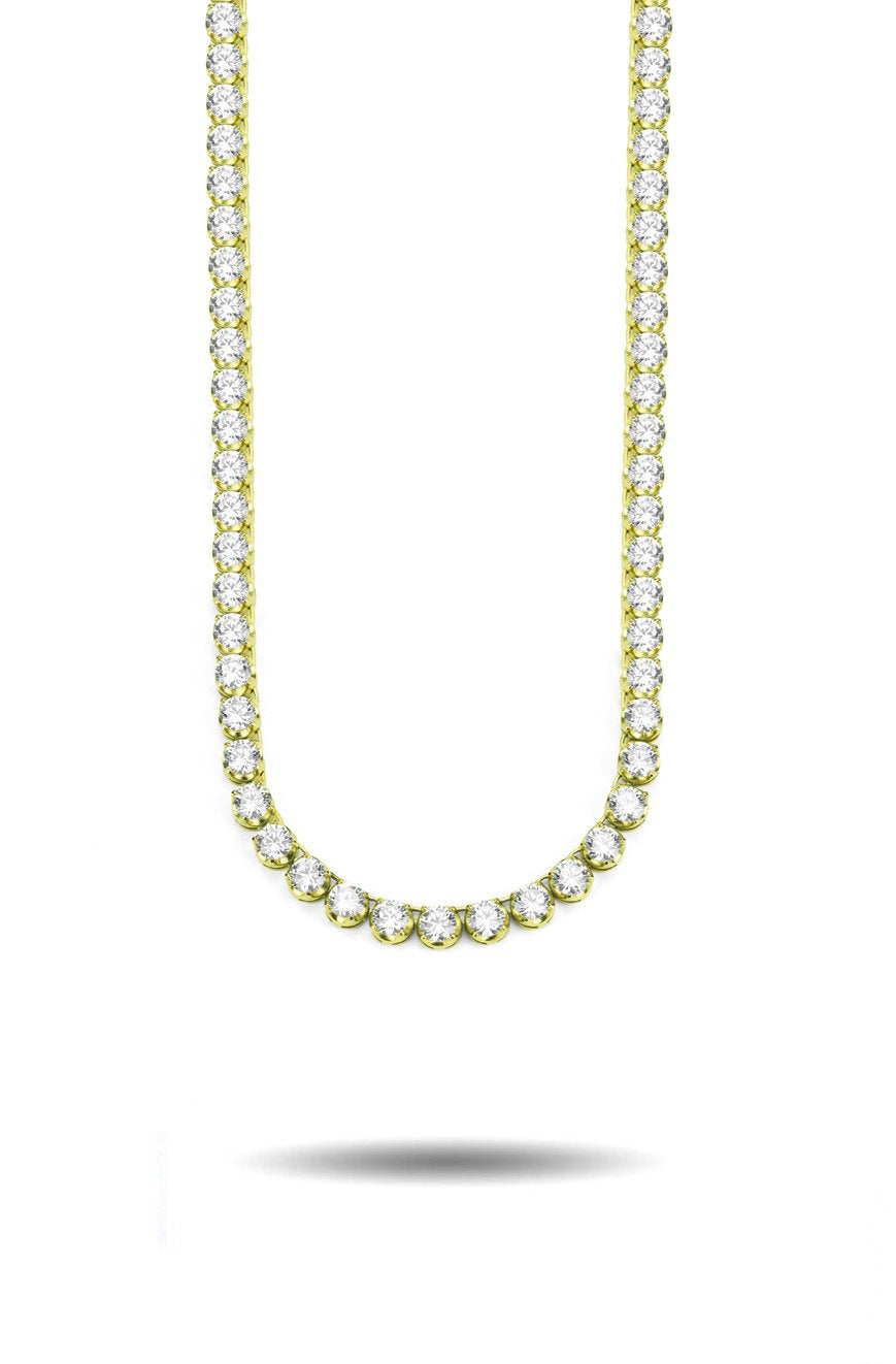 4mm Diamond Buttercup Tennis Chain in Gold *NEW*