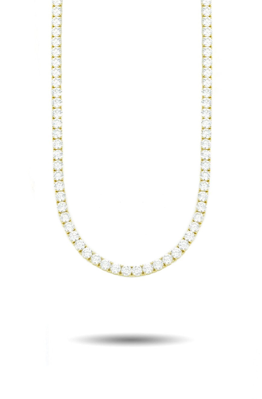 4mm Diamond Tennis Chain in Gold