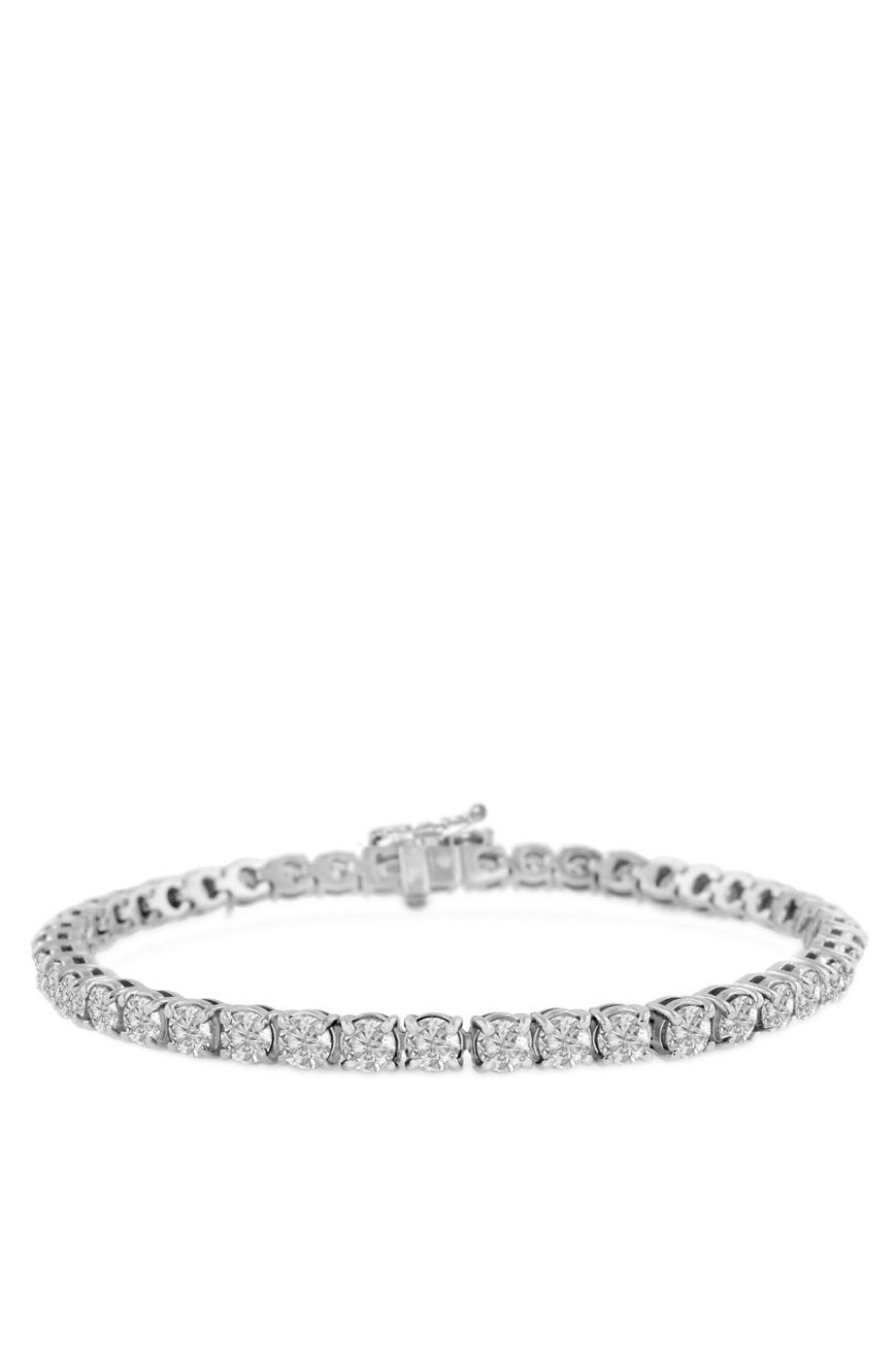 4mm Diamond Tennis Bracelet in White Gold