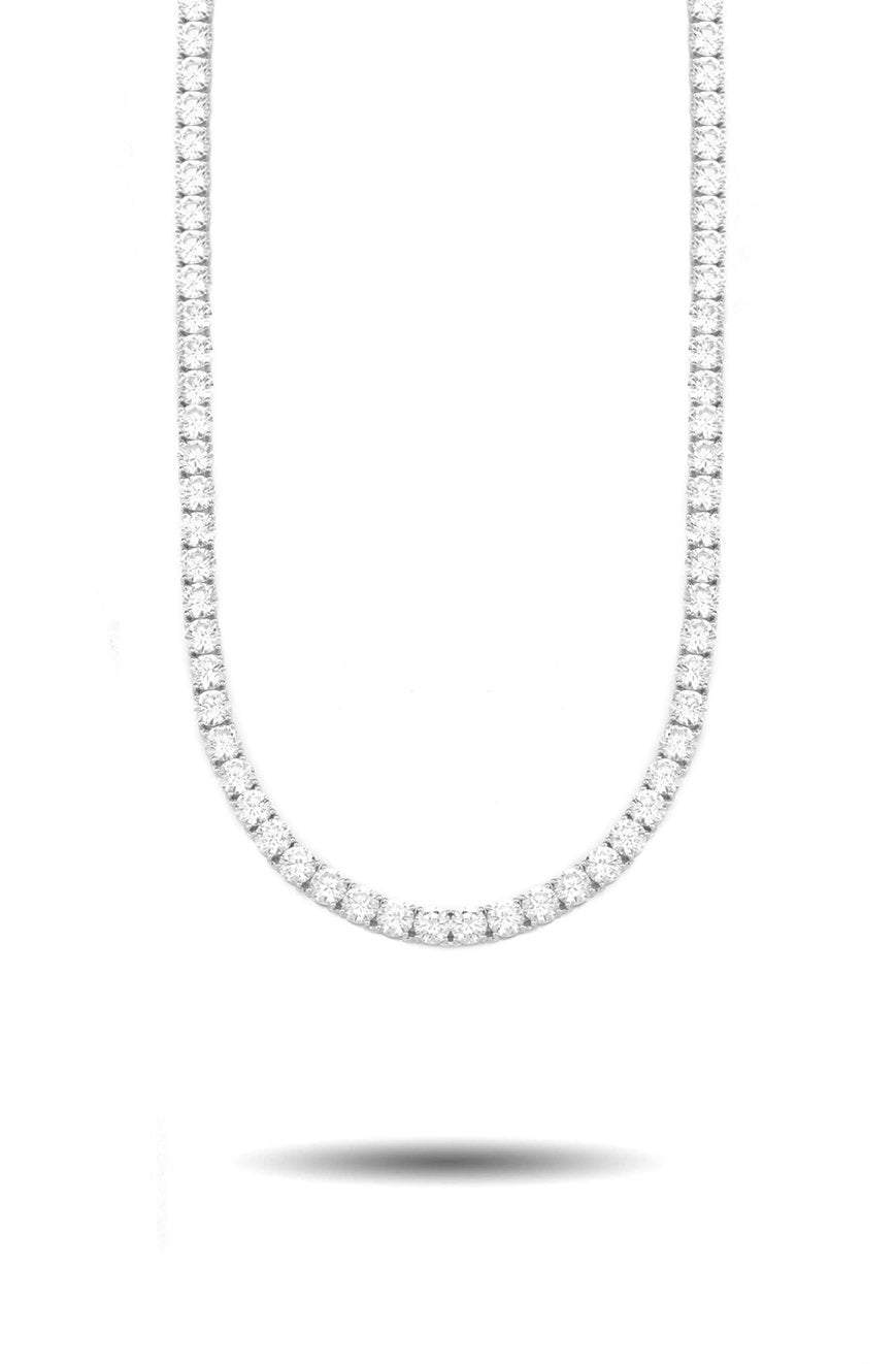 4mm Diamond Tennis Chain in White Gold