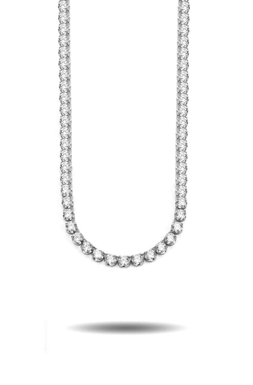 4mm Diamond Buttercup Tennis Chain in White Gold *NEW*