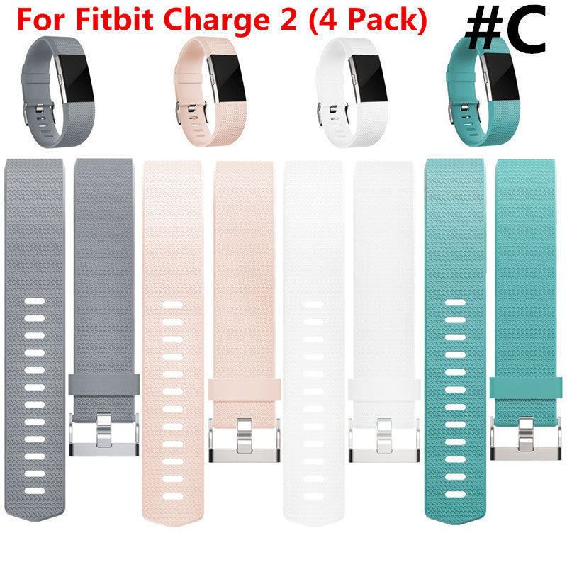 Fitbit Charge 2 Band Silicone Fitness First Impressions Lilly Rose Pink Large