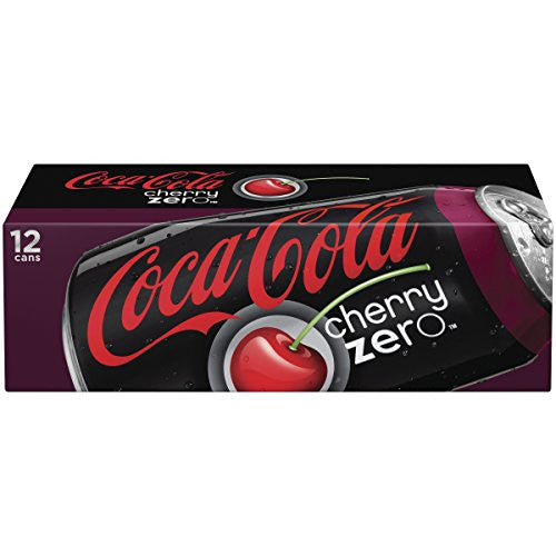 Coca-Cola Cherry Zero, 12 fl oz, 12 Pack Beverages Amazon- upcube