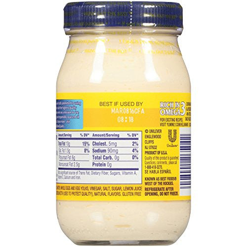 Hellmann's Real Mayonnaise 8 oz