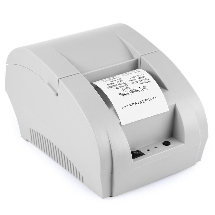 5890K Thermal Receipt Printer Portable POS Printer USB Paper Roll Port 58mm Thermal Low Noise For Restaurant and Supermarket Printers Dream high Store- upcube