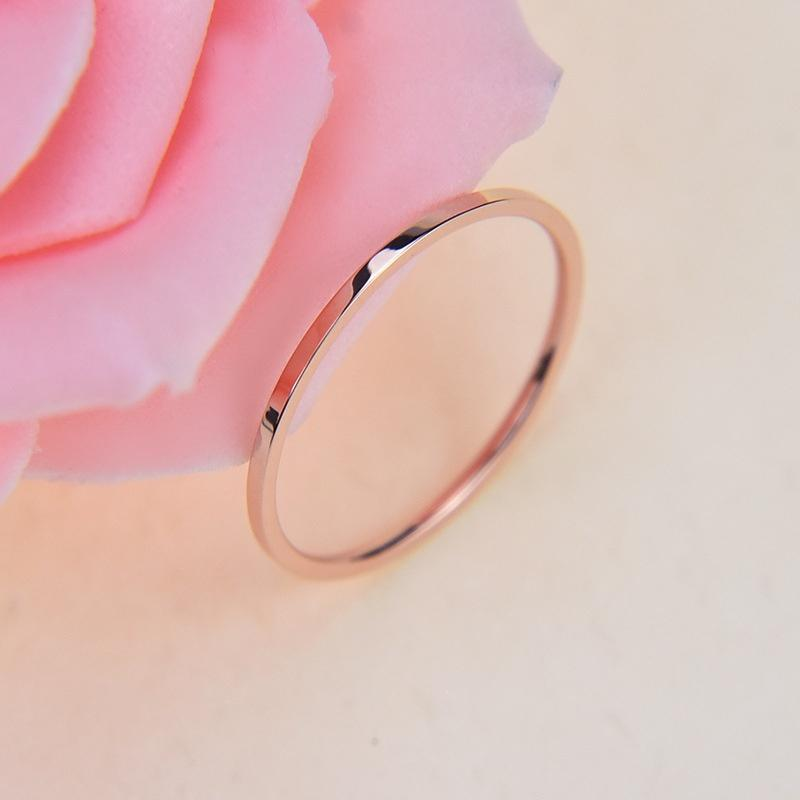 2 Pcs Pack Fashion Simple Classic Fine Ring Unisex Rings Couple Rings Wedding Rings Valentine's Day Gifts Jewelry
