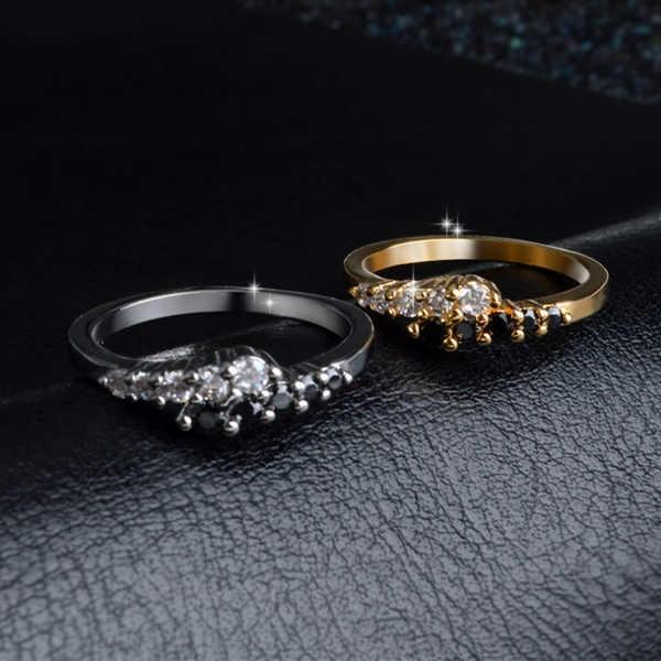 Women Fashion White Gold Diamond Rings Engagement Wedding Bridal Ring Jewelry Size 6 7 8 9