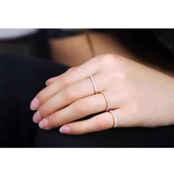 Women Fashion 925 Sterling Silver Simulated Diamond Ring Wedding Rings Jewelry Accessories