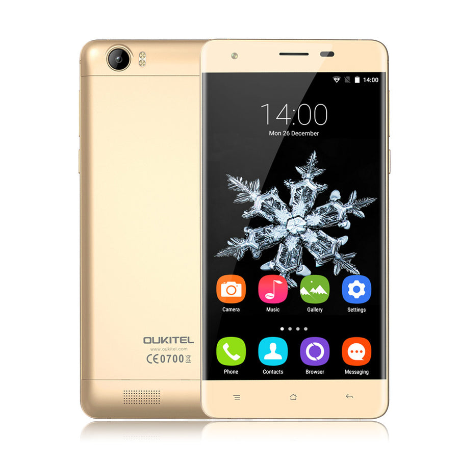 "6000mAh OUKITEL K6000 Mobile Phone Android 5.1 MTK6735P Quad Core Cellphone 2G RAM 16G ROM 5MP 13MP 5.5"" HD 4G LTE Smartphone"