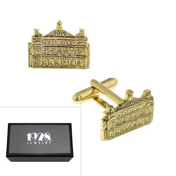 14K Gold Dipped Manor House Cufflinks - upcube