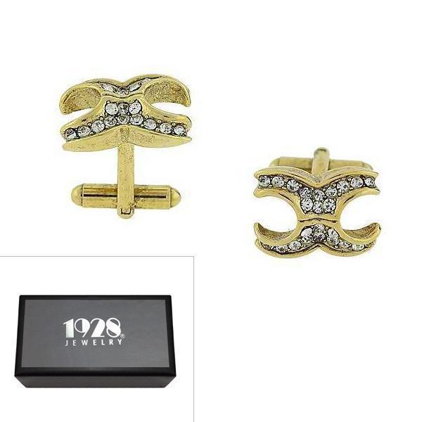 14K Gold Dipped Crystal Cufflinks - upcube