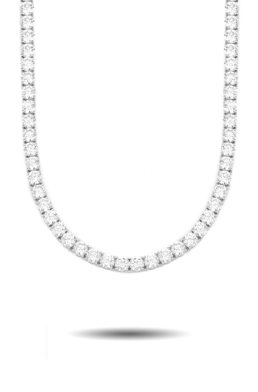 6mm Diamond Tennis Chain in White Gold *NEW*