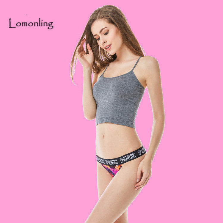 7 colors Beautiful sexy VS Thong pants High elastic cotton underwear pink  logo 8c7ed02dc