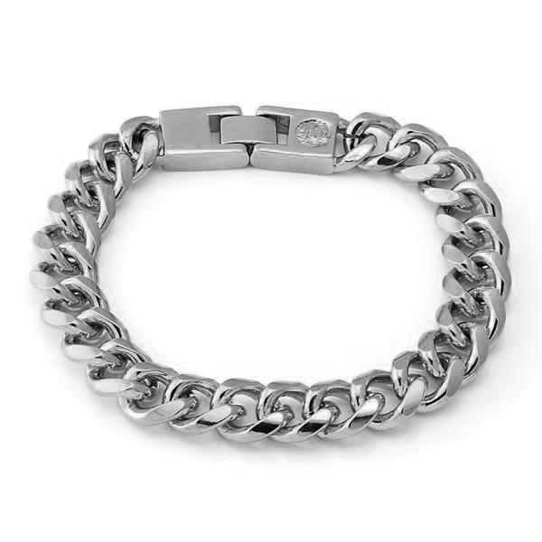 12mm, Stainless Steel Miami Cuban Bracelet - upcube