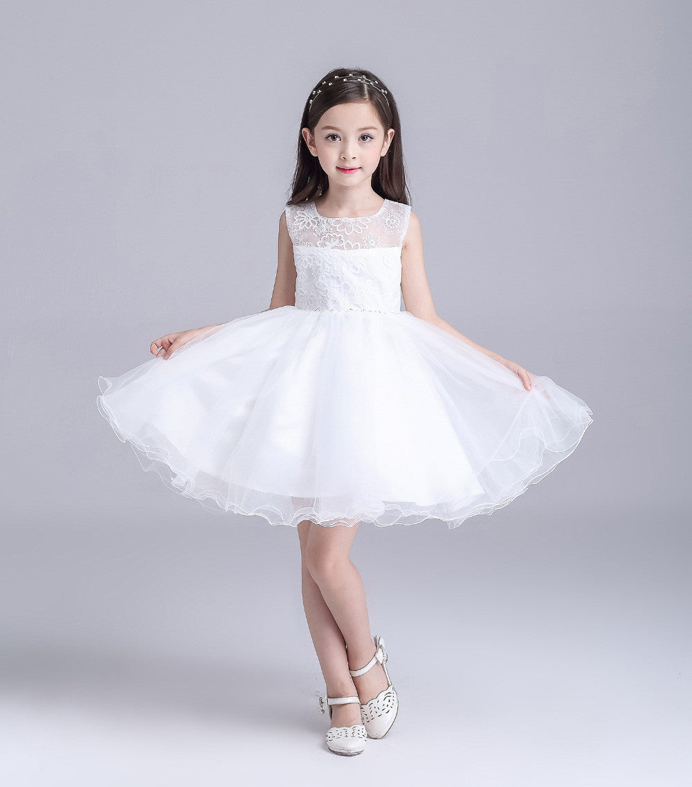 1196649dba876 9126 Free shipping Cheap New flower girl dresses Ivory lace flower girl  dress Girls birthday party dress 2-12 age