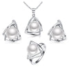 925 sterling silver pearl jewelry set include natural freshwater pearls necklace ring earring fine jewelry sets Sinya tz09044 Jewelry H&Y Pearl Fine Jewelry Store- upcube