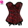 AIZEN sexy red corsets and bustiers vintage lace up waist cincher overbust corset plus size body shaper gothic corselet exotic