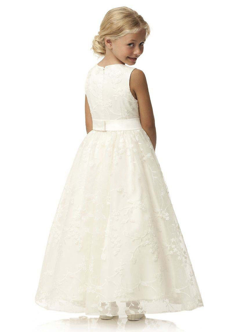 Abaowedding long ivory flower girl dresses 2017 vestido lace dresses for girls vintage first holy communion dresses for girls Flower Girl Dresses mkay- upcube