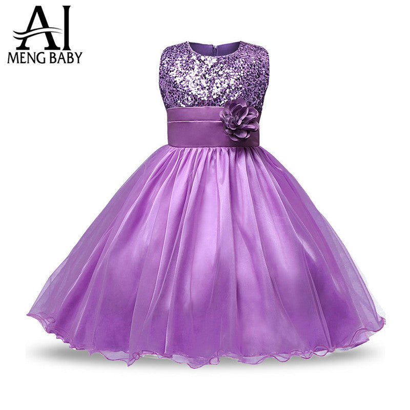 Ai Meng Baby Christmas Infant Kids Party Dresses For Girls Wedding ...