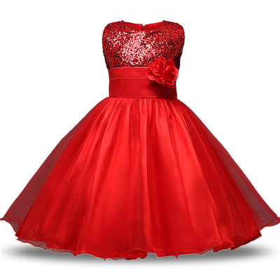 Ai Meng Baby Christmas Infant Kids Party Dresses For Girls Wedding