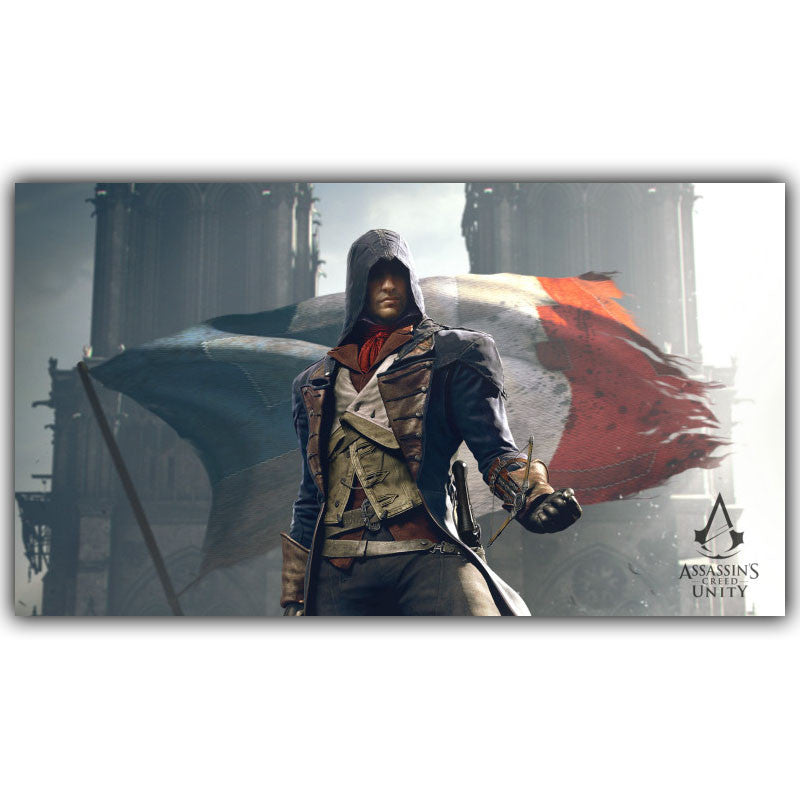 Assassins Creed Video Game Poster Boys Room Decor Silk Print Poster Picture Wallpaper YX195 Home Decor Bianche Wall Art Store- upcube