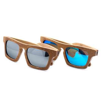 799bdb8b717 BOBO BIRD Mens Vintage Square Wood Sunglasses Womens Polarized UV400 Protect  Coating Mirror Wood Sunglasses in