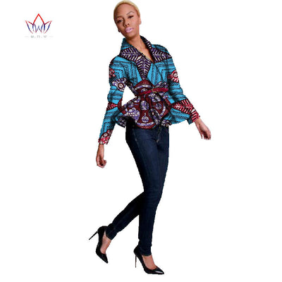 8e7b4e2d9f52d BRW Bazin Riche African Print Wax Coat Dashiki Blazer Plus Size 6xl Africa  Style Clothing for